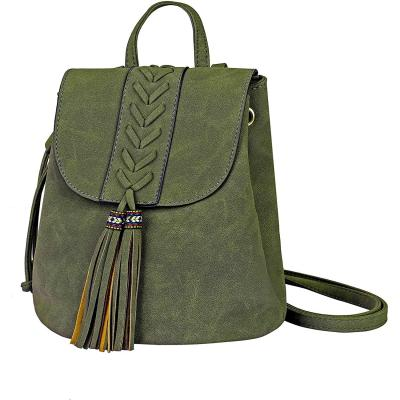 Zaino Donna Bohemian Mini Girls Backpack Ricamato Fashion PU morbido Zaini